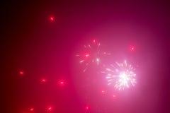Fondo abstracto de los fuegos artificiales rojos Imágenes de archivo libres de regalías