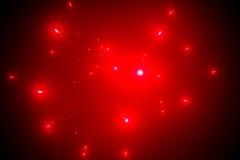 Fondo abstracto de los fuegos artificiales rojos Foto de archivo libre de regalías
