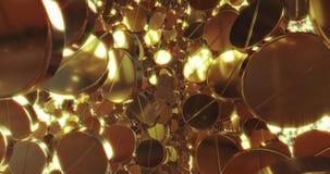 Fondo abstracto de los gráficos 3D con las píldoras de oro fotos de archivo libres de regalías