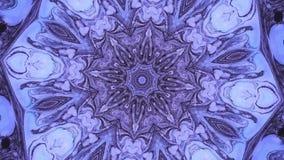 Fondo abstracto de los gráficos del movimiento Mandala hipnótica para la meditación Efecto visual de la etapa del caleidoscopio p stock de ilustración