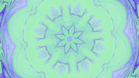 Fondo abstracto de los gráficos del movimiento Mandala hipnótica para la meditación Efecto visual de la etapa del caleidoscopio p metrajes