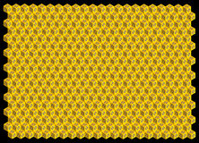 Fondo abstracto de los hexágonos 3D Ilustración del Vector