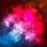 Fondo abstracto de los hexágonos del arco iris Fotografía de archivo