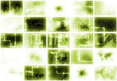 Fondo abstracto de los media futuristas verdes Imágenes de archivo libres de regalías