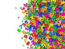 Fondo abstracto de los números coloridos Fotografía de archivo libre de regalías