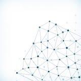 Fondo abstracto de los puntos de conexión Imagenes de archivo