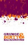 Fondo abstracto de los splats de la tinta del grunge Fotos de archivo