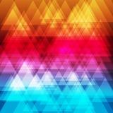 Fondo abstracto de los triángulos del arco iris Fotos de archivo