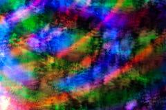 Fondo abstracto de luces coloreadas en un movimiento Fotografía de archivo libre de regalías