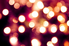 Fondo abstracto de luces. Tinte violeta Fotos de archivo libres de regalías