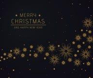 Fondo abstracto de lujo de la oscuridad de la Navidad fotos de archivo