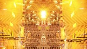 Fondo abstracto de modelos de oro stock de ilustración