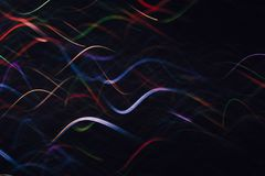 Fondo abstracto de ondas coloridas en el movimiento Foto de archivo libre de regalías