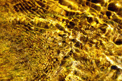 Fondo abstracto de oro del agua Imagen de archivo libre de regalías