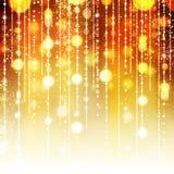 Fondo abstracto de oro del día de fiesta Foto de archivo