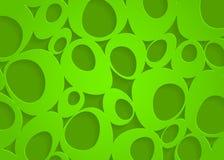Fondo abstracto de papel geométrico verde stock de ilustración