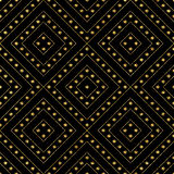 Fondo abstracto de rayas y de puntos brillantes de oro Fotos de archivo libres de regalías