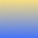 Fondo abstracto de semitono en colores del azul y del complemento Fotografía de archivo libre de regalías
