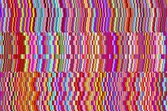 Fondo abstracto de tiras aleatoriamente dispuestas de ruido digital de la interferencia Imagen de archivo libre de regalías
