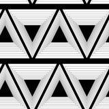 Fondo abstracto de triángulos, patte inconsútil blanco y negro stock de ilustración