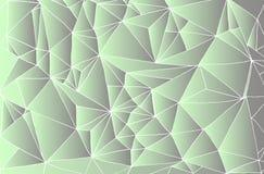 Fondo abstracto decorativo, triángulos blancos del contorno, s verde stock de ilustración