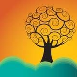 Fondo abstracto del árbol ilustración del vector