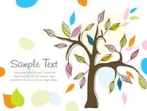 Fondo abstracto del árbol, vector Fotografía de archivo