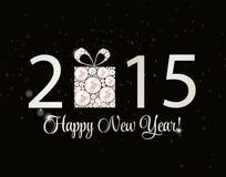 Fondo abstracto del Año Nuevo de la belleza 2015 Vector Fotografía de archivo