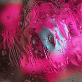 Fondo abstracto del aceite mezclado con agua Foto de archivo libre de regalías