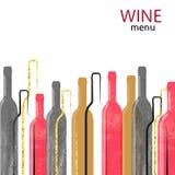 Fondo abstracto del alcohol del vino de la acuarela ilustración del vector
