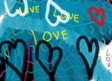 Fondo abstracto del amor stock de ilustración