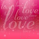 Fondo abstracto del amor Fotos de archivo