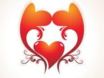 Fondo abstracto del amor de los corazones Fotos de archivo