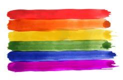 Fondo abstracto del arco iris de la acuarela Bandera del orgullo gay LGBT ilustración del vector