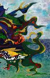 Fondo abstracto del arte Imágenes de archivo libres de regalías