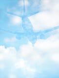 Fondo abstracto del avión de pasajeros Fotografía de archivo libre de regalías