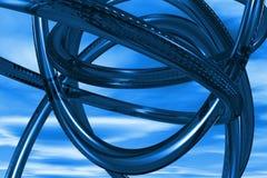 Fondo abstracto del azul 3D Imagen de archivo