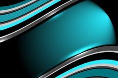 Fondo abstracto del azul de la dimensión Fotografía de archivo