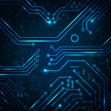 Fondo abstracto del azul de la tecnología. Imágenes de archivo libres de regalías