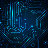 Fondo abstracto del azul de la tecnología. Imagen de archivo