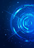 Fondo abstracto del azul de la tecnología Imagen de archivo libre de regalías