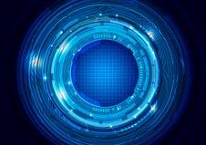 Fondo abstracto del azul de la tecnología Fotografía de archivo libre de regalías