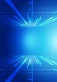 Fondo abstracto del azul de la tecnología Imágenes de archivo libres de regalías