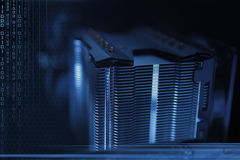 Fondo abstracto del azul de la tecnología Fotos de archivo