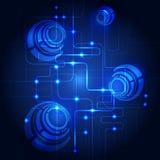 Fondo abstracto del azul de la tecnología Ilustración del vector Imagen de archivo libre de regalías