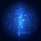Fondo abstracto del azul de la tecnología Ilustración del vector Foto de archivo libre de regalías