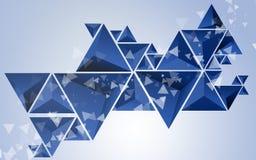 Fondo abstracto del azul del triángulo Fotos de archivo
