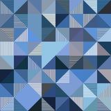 Fondo abstracto del azul del vector de los triángulos Imágenes de archivo libres de regalías