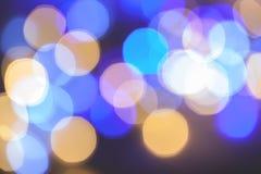 Fondo abstracto del bokeh de la luz de la Navidad Año Nuevo Foto de archivo