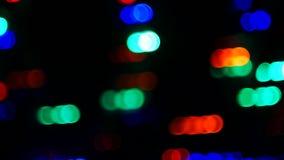Fondo abstracto del bokeh de la luz del movimiento metrajes